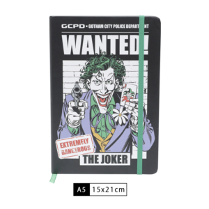 Caderneta WB Joker Wanted - Dc Comics