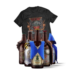 Kit de Cervejas Terra Leste + Camiseta Viking World Tour